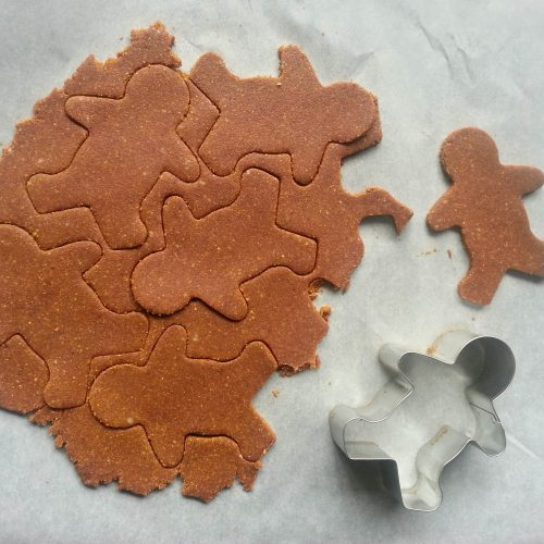 cookie cutter and gingerbread dough