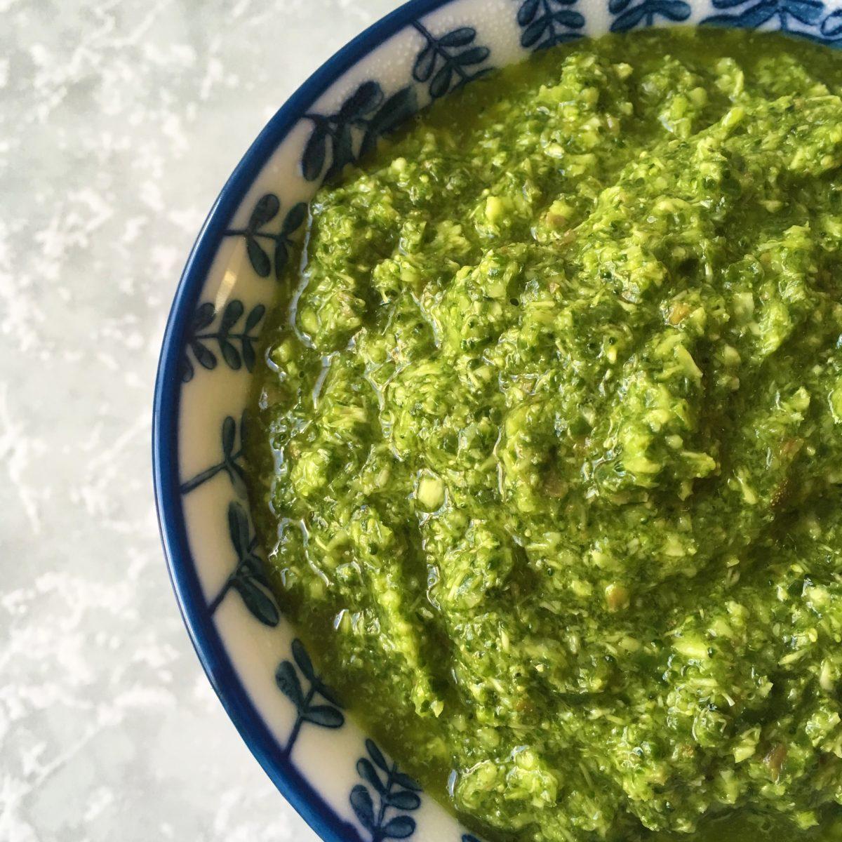 Broccoli Pesto with Capers