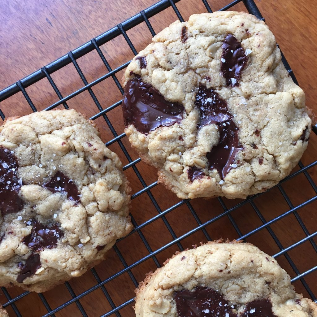 Salted Tahini + Chocolate Cookies