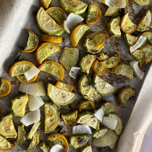 Simple Roasted Zucchini