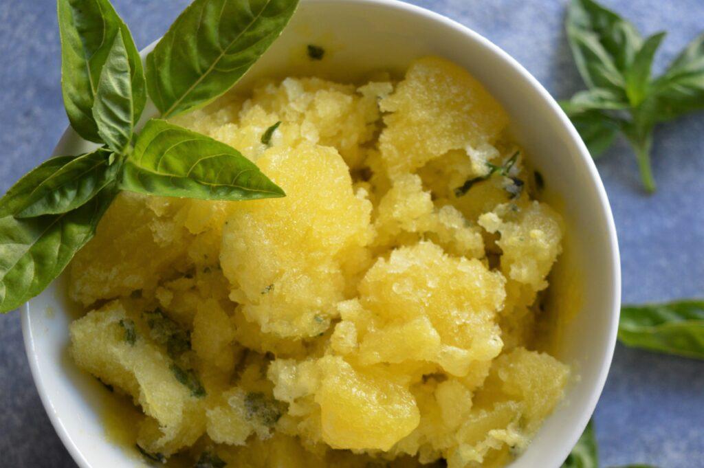 Pineapple Basil Granita
